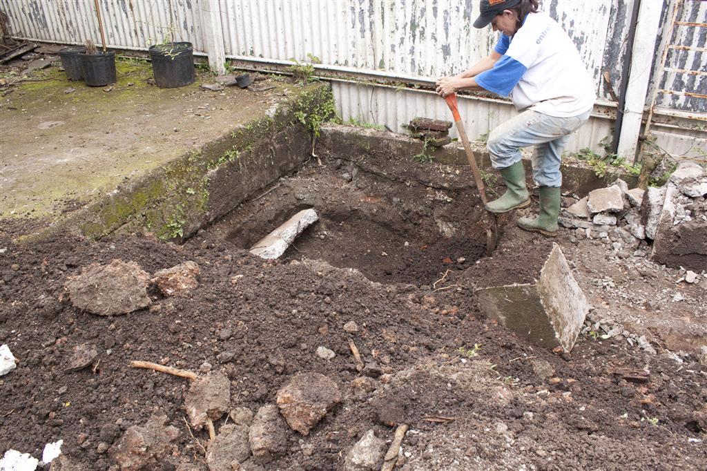 Arreglo del patio ay sarita for Nivelar piso de tierra